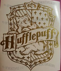 Various Harry Potter Crest Vinyl Decals by AryeaCrafts on Etsy