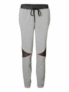 LOOSE SWEAT PANTS, Medium Grey Melange, main