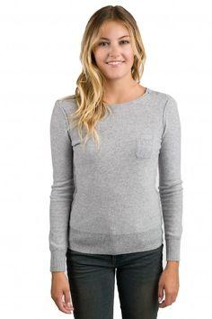 JENNIE LIU Women's 100% Pure Cashmere Long Sleeve Crew Neck ...