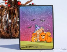 Kimplete Kreativity - cat Halloween card | Distress Ink | Newton's Nook Designs | Newton's Perfect Pumpkin