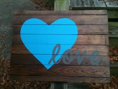 Reclaimed Wood Wall Art  Love  Medium by ArpanaHouse on Etsy, $85.00
