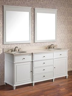 <p>The <strong>Cesarina 73 in. vanity</strong> in white is a beautiful transitional design with classic lines.</p>