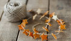 Orange Peel Star Garland