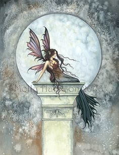 Fairy Art by Molly Harrison - Autumn Moon