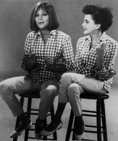 """Barbra and Judy   Gotta love Judy, she was a fellow Gemini. Barbra is another idol of mine. AT my wedding our first song was 'Evergreen""""."""