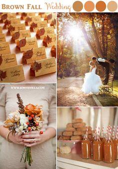 Brown Fall Wedding Inspiration » KnotsVilla