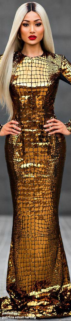 .:.Love the snakeskin style & metallic gold effect