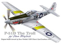 P-51D Mustang The Troll - Paper Model Mockup Artwork by Dave Winfield - www.papermodelshop.com