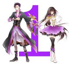 Hajime Mutsuki and Yuki Hanazono Anime Siblings, Anime Couples Manga, Anime Manga, Anime Guys, Anime Art, Character Outfits, Character Art, Character Design, Touken Ranbu