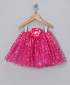 Take a look at this Hot Pink Glitter Daisy Tutu - Toddler & Girls by Just For Girls on #zulily today!