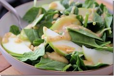 spinach salad with miso dressing