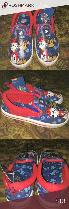 Cute Boys Slip On Sneakers These shoes are adorable and brand new. Never worn. They are Paw Patrol💕 Nickelodeon Shoes Sneakers