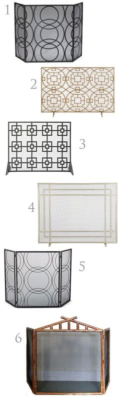 If your fireplace works, adding a simple cute rod iron screen could be nice.