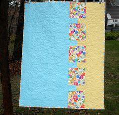 baby girl quilt patterns | Baby Bites Free Modern Baby Quilt Pattern