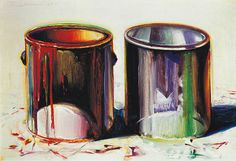 Paint Cans - Wayne Thiebaud -