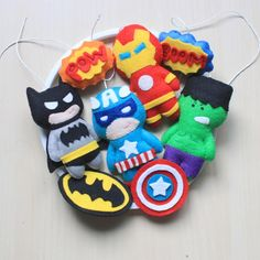 Avengers inspried crib mobile  suoerhero by MiracleInspiration