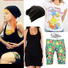 lead singer of Paramore Hayley Williams Style, Paramore Hayley Williams, Black Dress Outfits, Short Outfits, Cute Outfits, Alternative Outfits, Jeremy Scott Adidas, William Black, Her Style