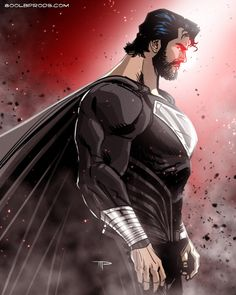 Superman might look like this in Justice League. This would be so cool Superman might look like this in Justice League. Heros Comics, Dc Comics Characters, Dc Comics Art, Dc Heroes, Marvel Dc Comics, Thor Marvel, Superman Movies, Batman Vs Superman, Superman Black Suit