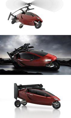 PAL-V ONE, two seat hybrid car and gyroplane.