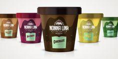 Nonna Lina Gelato Italiano packaging designed by Mr. Conde Studio