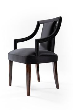 Corset chair | Classically referenced boutique designer dining chair with shaped open back. Extremely elegant, this dining chair will definitely be the right complement to every dining room setting.