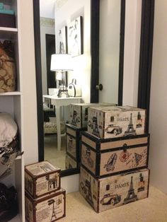 Eiffel Tower Storage Bins | Eiffel Tower  Trunks Are Great Storage/containers.  Organize