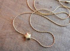 Star Bead Necklace, Gold Star Necklace, 14K Gold filled Necklace, Layering Necklace, Gold Star Pendant, Layered Necklace, Simple Necklace