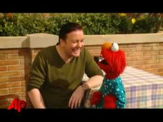 "Ricky Gervais Hangs with Elmo Uploaded on Mar 12, 2009 Behind the scenes video of Ricky Gervais on the set of ""'Sesame Street"". The appearance will air in November when ""Sesame Street"" debuts its 40th anniversary."