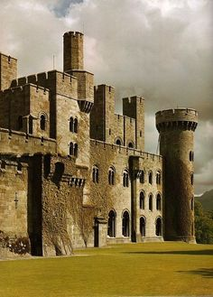 Medieval, Penrhyn Castle, Gwynedd, Wales I have been there ! I repelled down that tower! Chateau Medieval, Medieval Castle, Beautiful Castles, Beautiful Places, Chateau Moyen Age, Photo Chateau, Welsh Castles, Château Fort, Castle Ruins