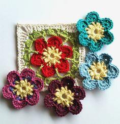 ergahandmade: Crochet Flower Motif + Free Pattern