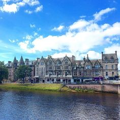 Lovely buildings along the Ness river crossing through in Take a stroll in the city center and be amazed by more beautiful Inverness, Beautiful Architecture, Scotland, Buildings, River, City, Amazing, Instagram Posts, Cities