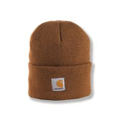 6b3f4463346 Carhartt Kid s Kid s Acrylic Watch Hat - Youth One Size Fits All - Carhartt  Brown  acrylic - Stratchable rib knit with a Carhartt woven label sewn on  front ...