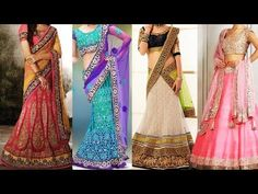 How to Wear Lehenga Saree in Different Styles | 5 Ways Of Wearing Lehenga Dupatta to Look Slim - YouTube