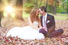 ohio wedding, stay forever photography, leaves, fall, vintage tea length gown, bridal, sweet love, true love,, bride and groom