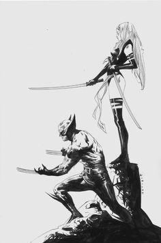 Wolverine and Psylocke by Jae Lee.