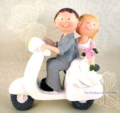 Scooter wedding cake topper!