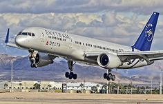 SkyTeam (Delta Air Lines) Boeing 757-232 Looks like a SLC landing.  Love the 757...great bird!