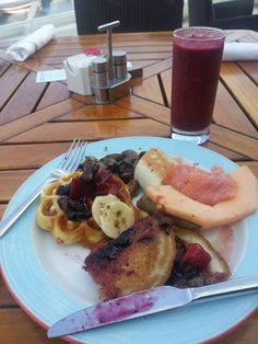 Loading up on our last breakfast on the Azamara cruise. Adam finished it and had room for an omelet.