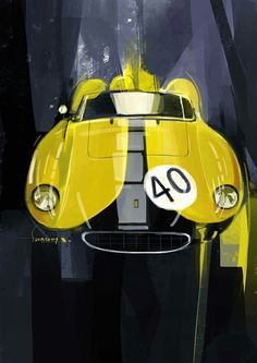 FERRARI 500 Testa Rossa illustration by Swaroop Roy