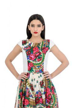 Gypsy White Dress Russian White Flower Dress Gypsy by YesADress