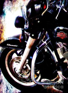 All American Harley Davidson by Barbara Chichester