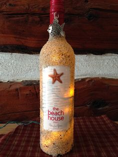 The Beach House recycled wine bottle turned by craftingafoundation, $30.00