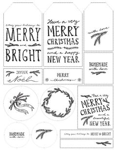Free downloadable Christmas tags / Etiquetas navideñas descargables y gratuitas