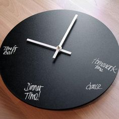 large chalk paint wooden wall clock - Google Search