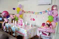 First Birthday Girl Party Supplies with Balonevi Party Store