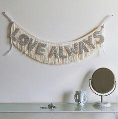 LOVE ALWAYS - Glittering Fringe Banner