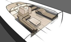 yacht interior sketches - Google Search
