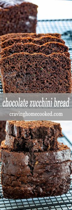This Chocolate Zucchini Bread is ultra moist, loaded with chocolate and zucchini thats out of this world delicious! If you love a good moist chocolate cake then this zucchini bread is for you. Its quick and super easy to make! #zucchinibread #chocolatezucchinibread #chocolate #zucchini #quickbread