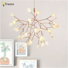 Cheap led pendant light, Buy Quality pendant lights directly from China indoor lighting Suppliers: 2017 New Hot lustre Rose Gold Iron vintage Fireflies bedroom lamp LED pendant lights Top novelty Indoor Lights fireflies light Led Pendant Lights, Kitchen Pendant Lighting, Modern Pendant Light, Led Chandelier, Led Lamp, Pendant Lamps, Tree Pendant, Lampe Led, Leaf Pendant