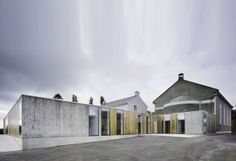 The Knocktopher Friary extension and refurbishment project by ODOS Architects, Love the look of exposed materials and this contemporary take on the cloister form.